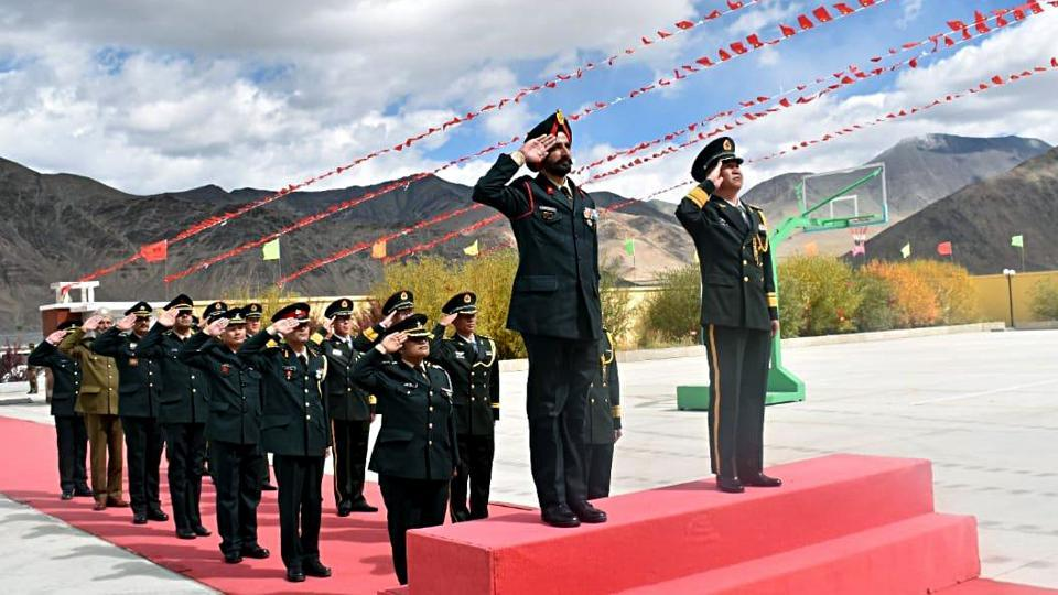A ceremonial Border Personnel Meeting(BPM) on 'Chinese National Day' held at Chinese BPM hut at Moldo in Eastern Ladakh on October 1. Delegations of both countries reaffirmed their commitment towards enhancing existing cordial relations and maintaining peace.