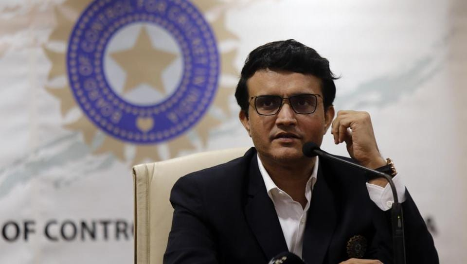 BCCI President Sourav Ganguly attends a press conference after taking charge in Mumbai.