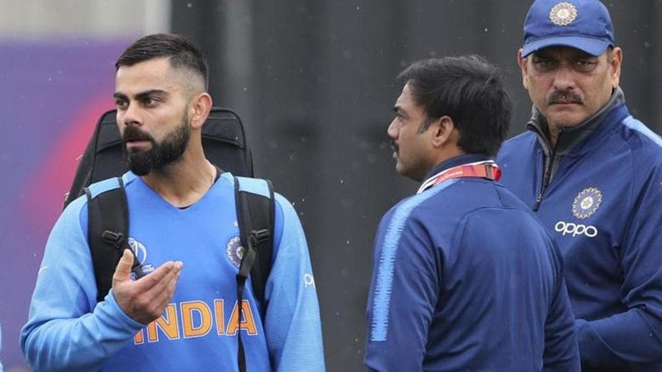 MSK Prasad with captain Virat Kohli