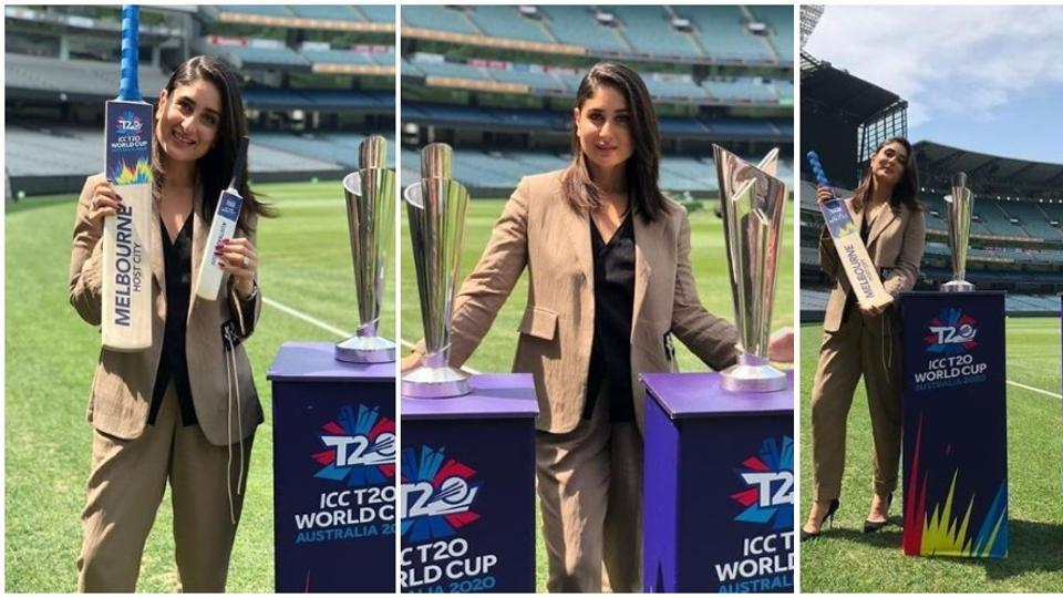 Kareena Kapoor was a smash hit at the unveiling of T20 cricket World Cup trophies in Melbourne.