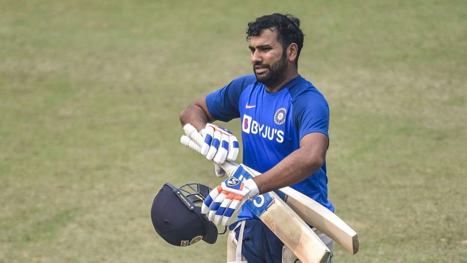 New Delhi: Indian captain Rohit Sharma during a practice session at Arun Jaitley Stadium.
