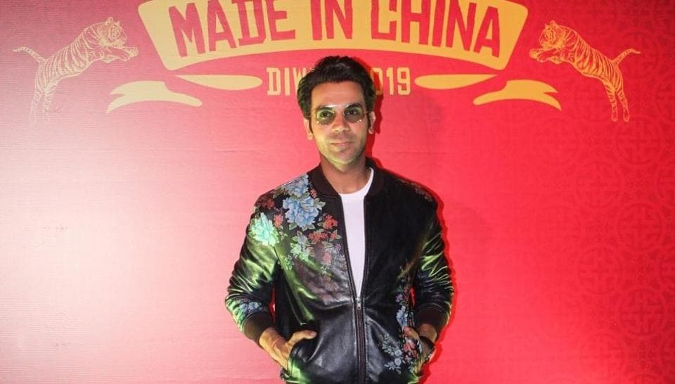 Rajkummar Rao at the trailer launch of his upcoming film Made In China in Mumbai on Sep 18, 2019.