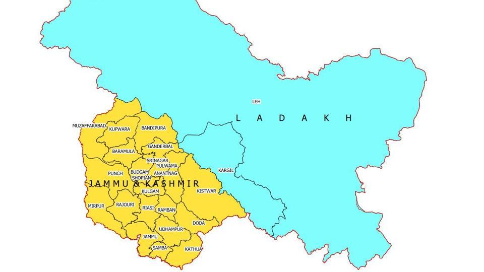 Here\'s India\'s new map with Union territories of Jammu and ...