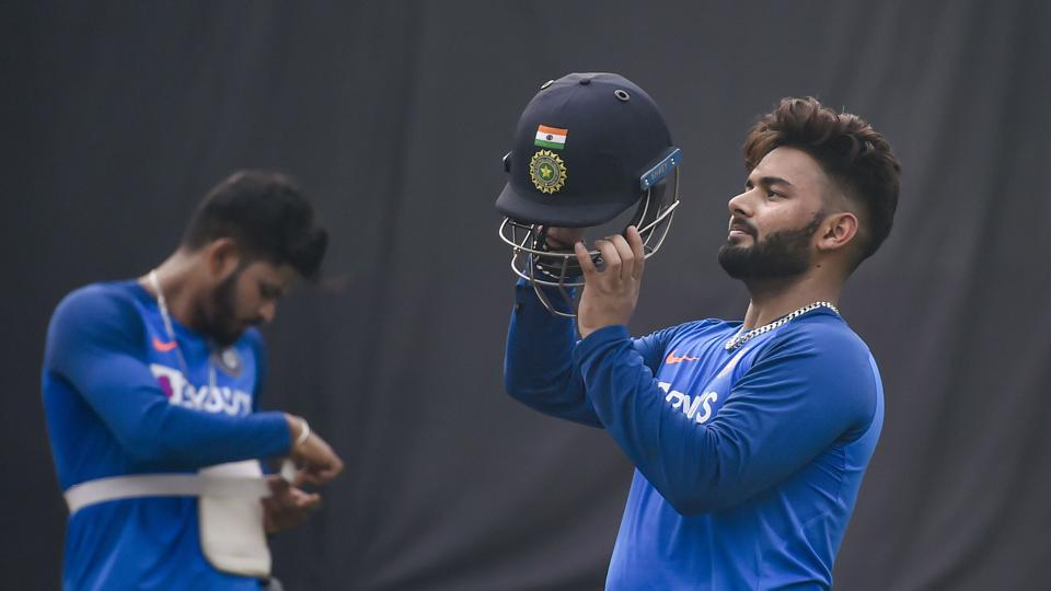 New Delhi: Indian wicket-keeper Rishabh Pant during a practice session at Arun Jaitley Stadium in New Delhi.