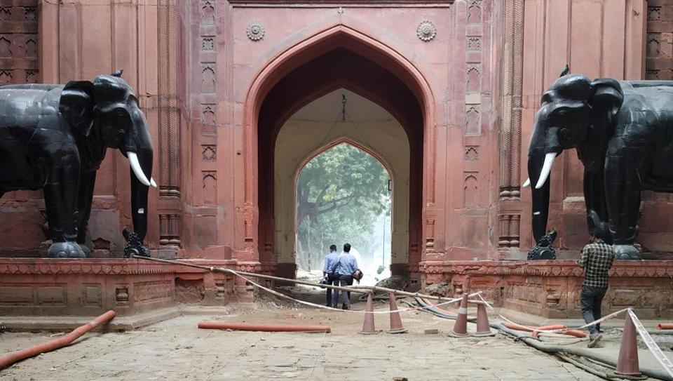 The historic stretch at Red Fort in  Delhicame to light when the ASI began digging in the area a month ago.
