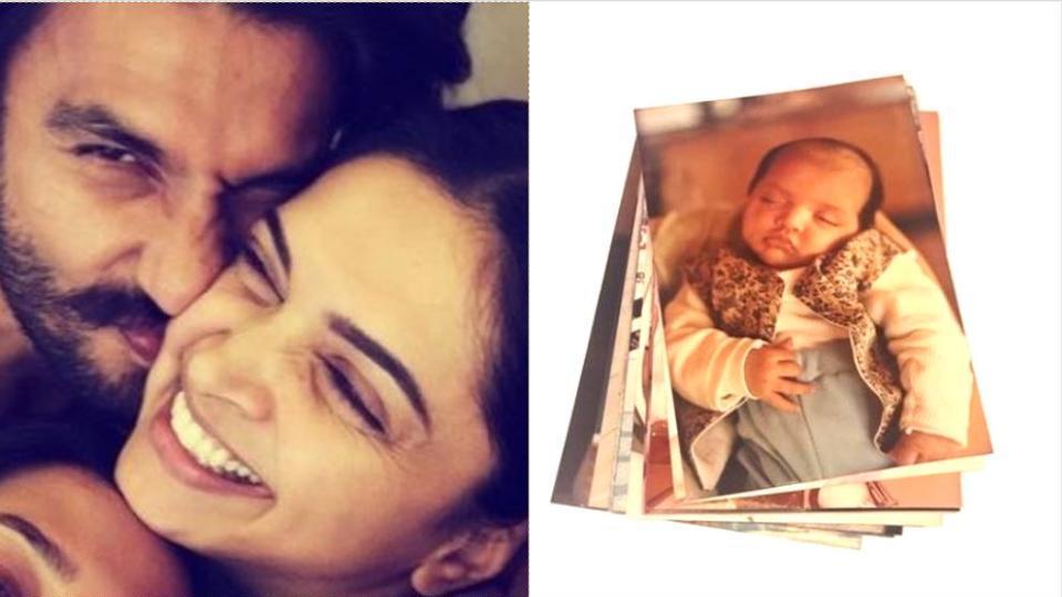 Ranveer Singh showered Deepika Padukone's baby pics with love.