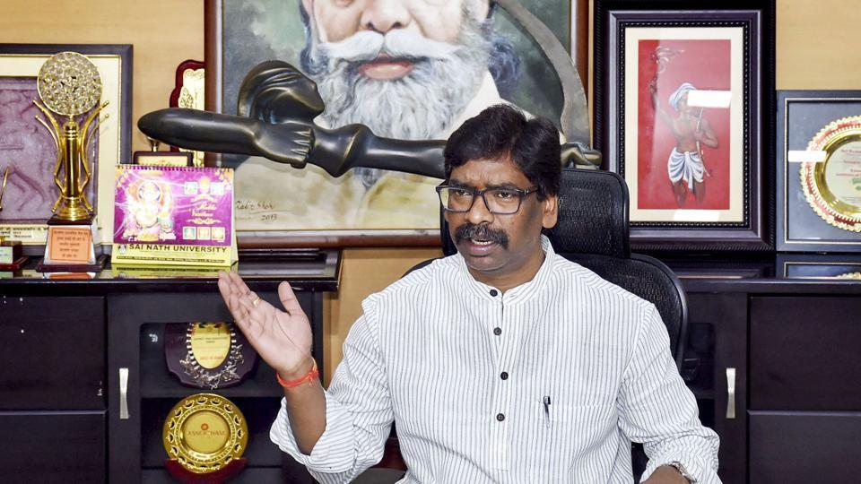 Jharkhand Mukti Morcha (JMM) leader  Hemant Soren