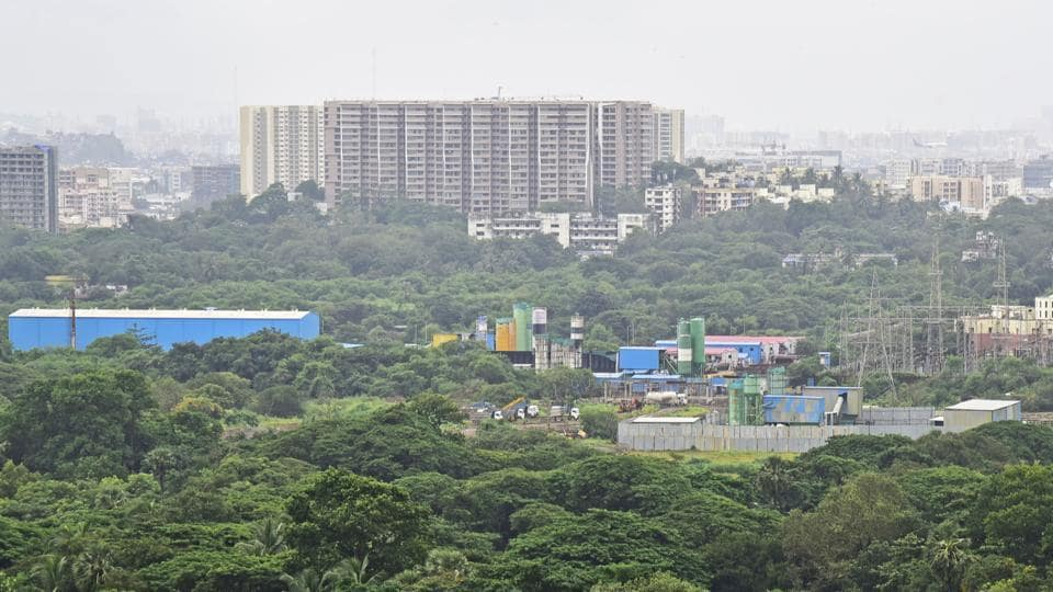 Work on the Metro 3 car shed at Aarey Colony