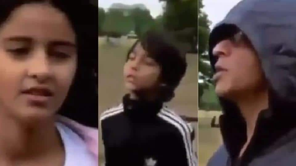 Ananya Panday, Aryan Khan and Shah Rukh Khan in a still from the throwback video.