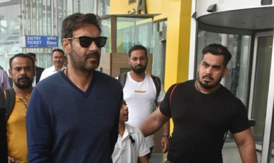 Ajay Devgn at the airport in Lucknow