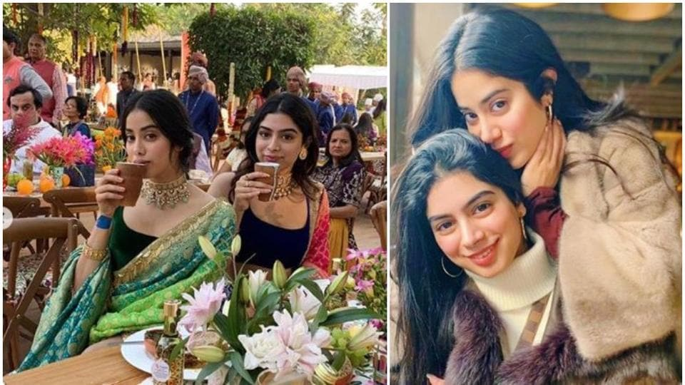 Janhvi Kapoor has wished her sister Khushi on the latter's birthday onTuesday.
