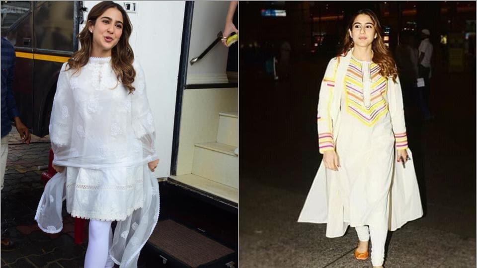Sara Ali Khan shows how to wear white during the festive season.