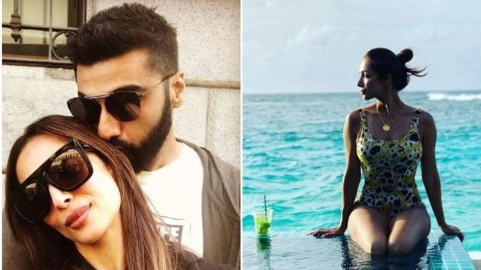 Malaika Arora and ArjunKapoor during their holiday earlier this year.