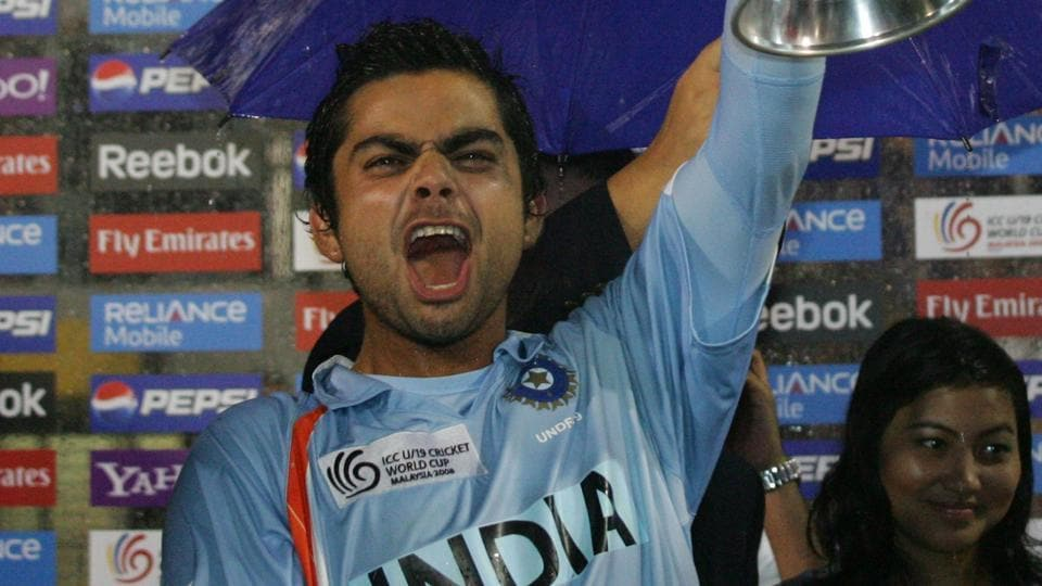 File photo of Virat Kohli lifting the 2008 U-19 World Cup.