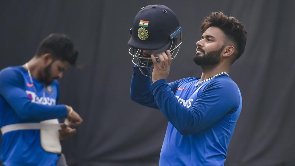 Indian wicket-keeper Rishabh Pant during a practice session.