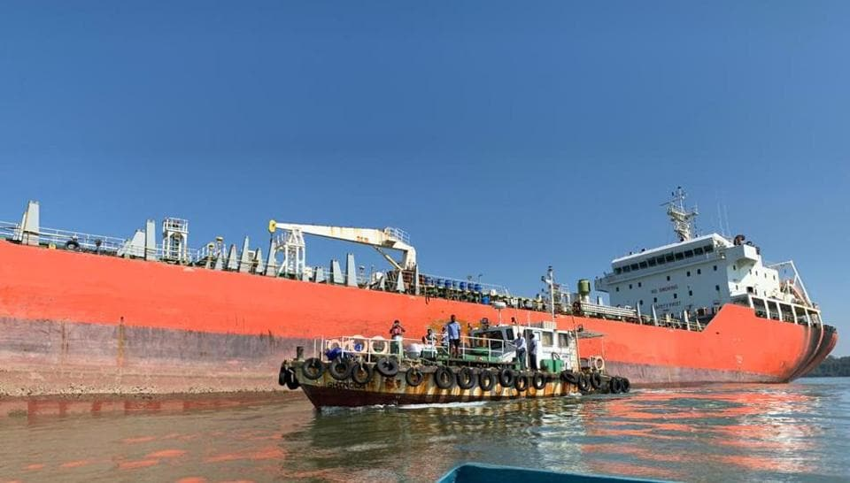 The chemical tanker Nu Shi Nalini has been stranded since October 25.