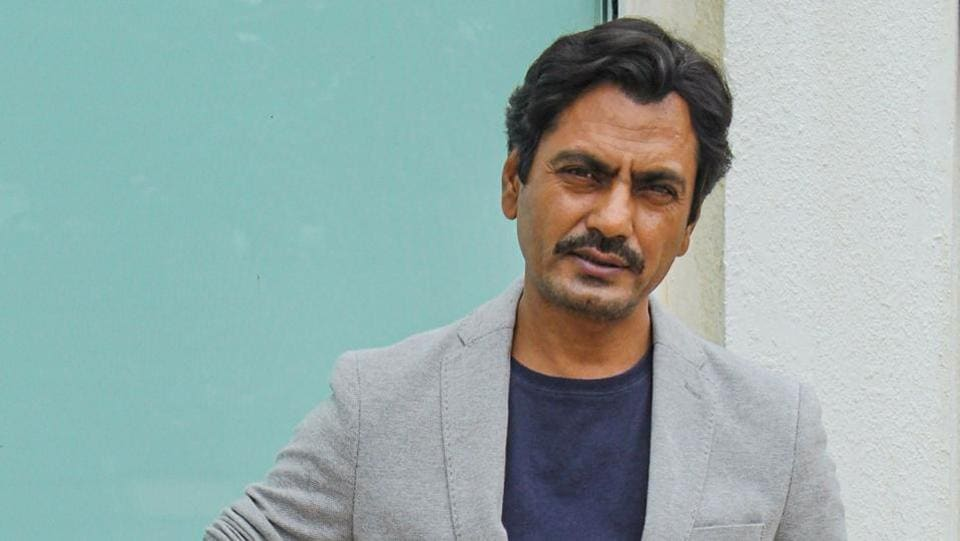 Nawazuddin Siddiqui during a promotional event for his film Motichoor Chaknachoor.