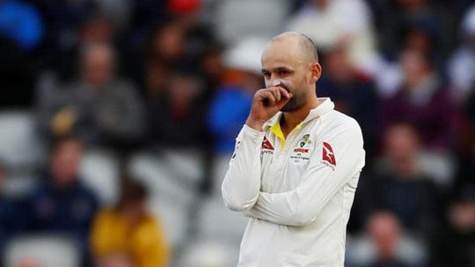 Australia's Nathan Lyon during the fourth Ashes Test.