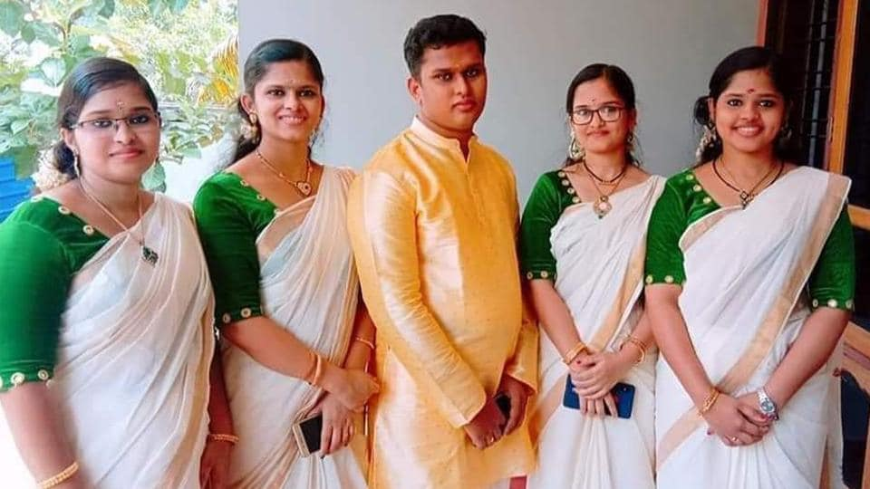 When they were born on 18 November 1995, their father, a small-time trader, was excited and he gave similar names to all five: Uhtraja, Uthara, Uthama, Uthra and Uthrajan. They were born on the Uthram star in Malayalam calendar. (HT photo)