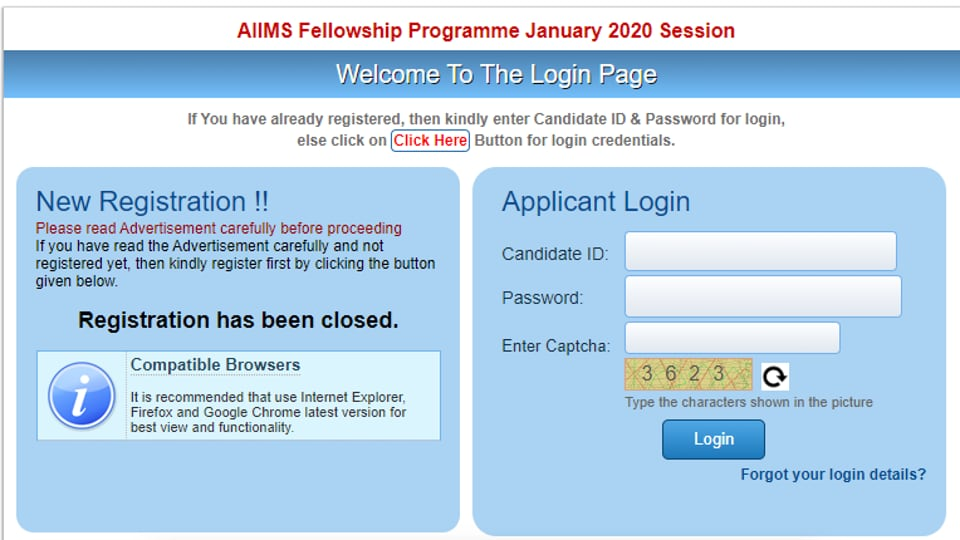 AIIMS PG 2020 admit card out