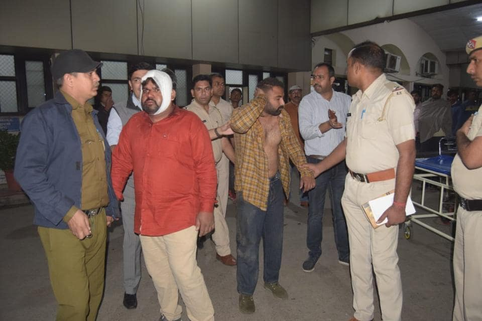 Two of the accused in police custody in Panchkula on Thursday.