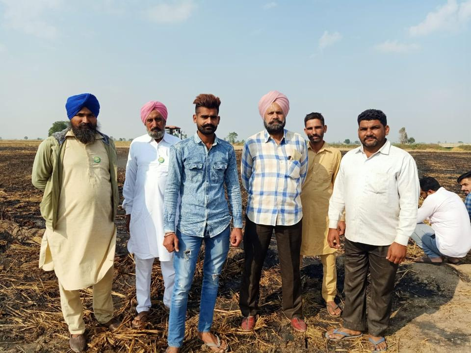 Farmers of the Moonak subdivision in Sangrur district  who had suffered losses during the Ghaggar breach in July this year.