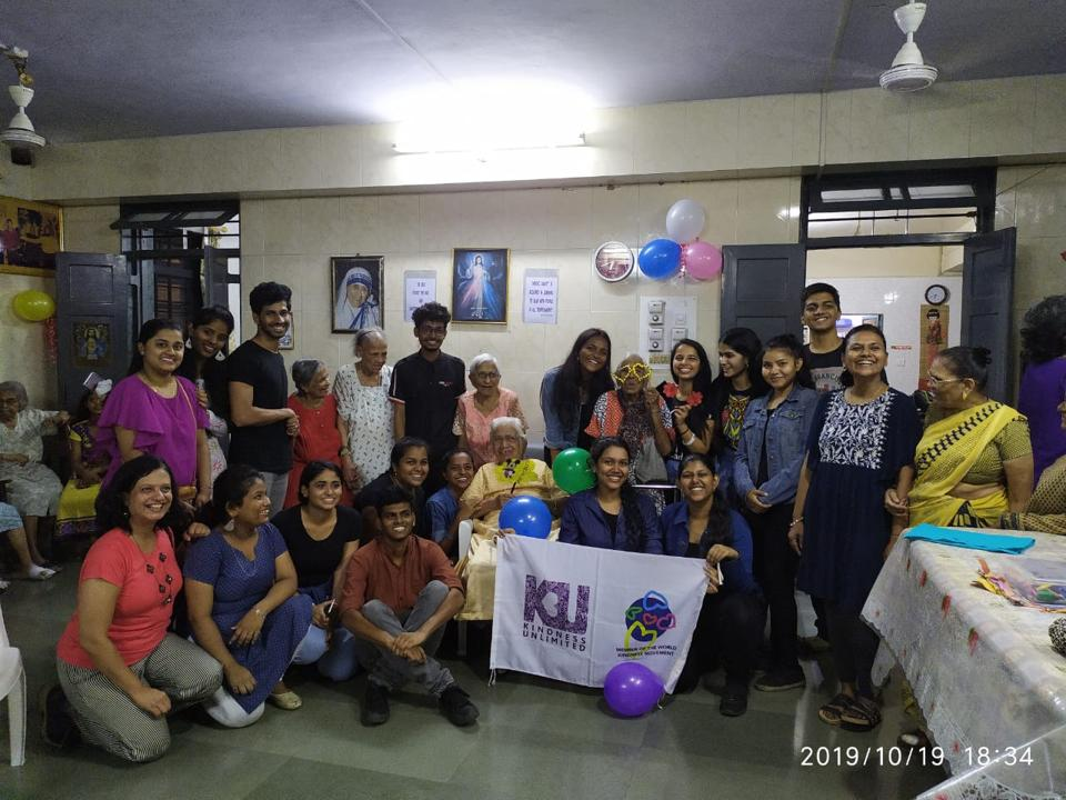Volunteers organise a Diwali party for residents of St Anthony's Home for senior women in Bandra, in the days leading up to the Kindness Jam.