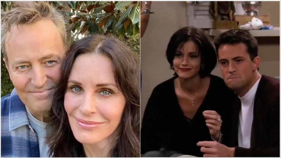 Courtney Cox and Matthew Perry met over lunch recently.