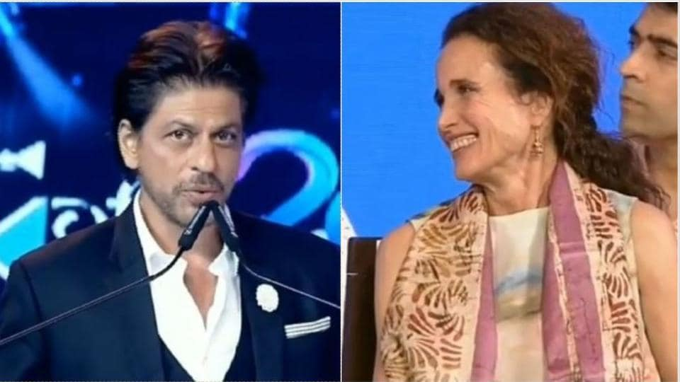 Shah Rukh Khan talked about Andie MacDowell in his speech at KIFF.