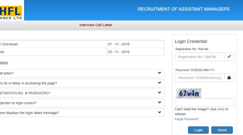 LIC HFL Assistant call letter for interview
