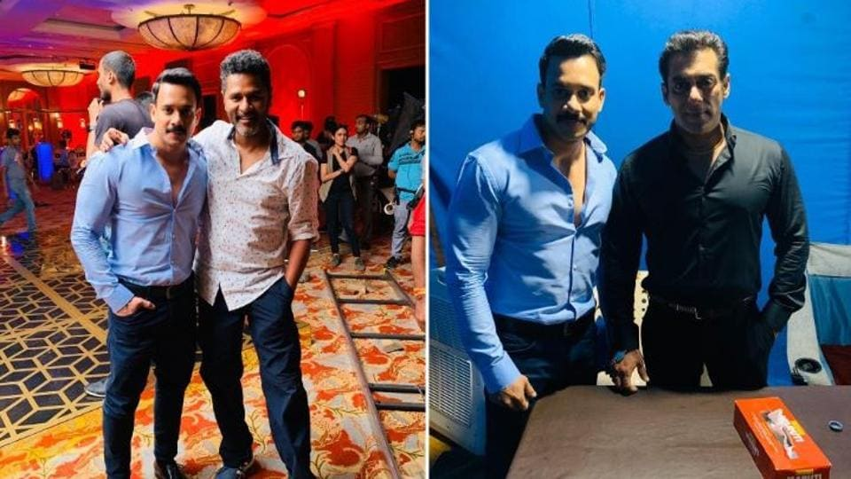 Bharath posted pictures with Salman Khan and Prabhdheva.