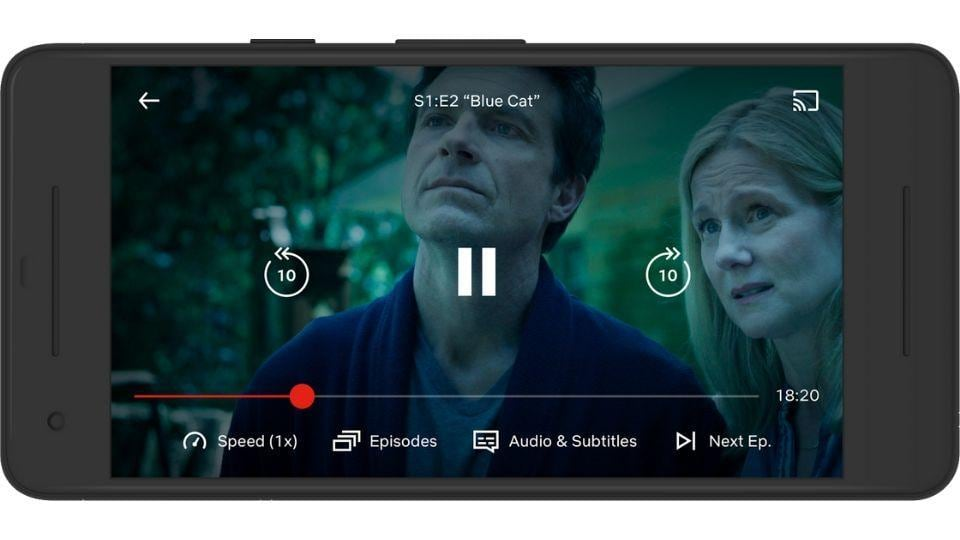 Netflix tests new features on mobile app.