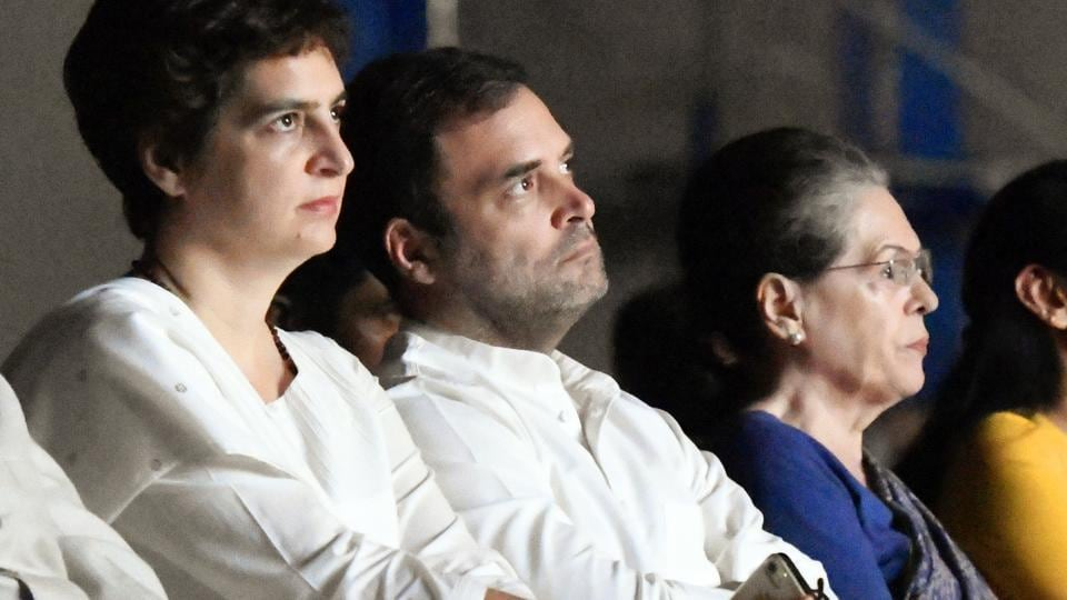 Priyanka Gandhi Vadra, Congress leader Rahul Gandhi and Sonia Gandhi