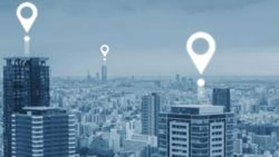 Map pin GPS navigation technology, and wireless technology in the city