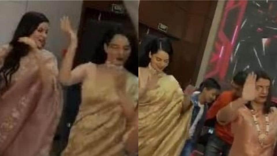 Kangana Ranaut dances with Rangoli Chandel and Ritu.