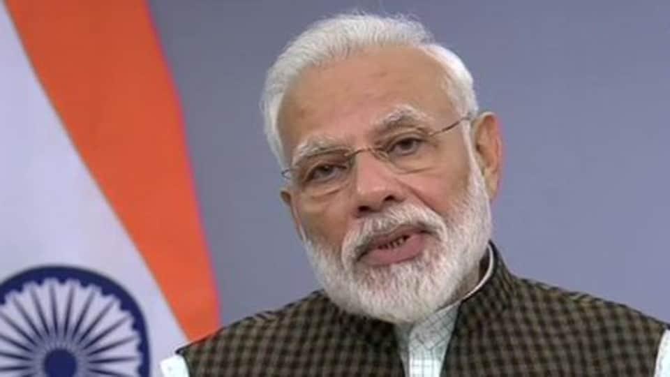 Narendra Modi addressing the nation. (ANI photo)