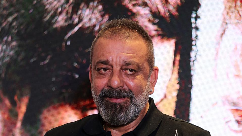 Sanjay Dutt during the promotion of Prassthanam.