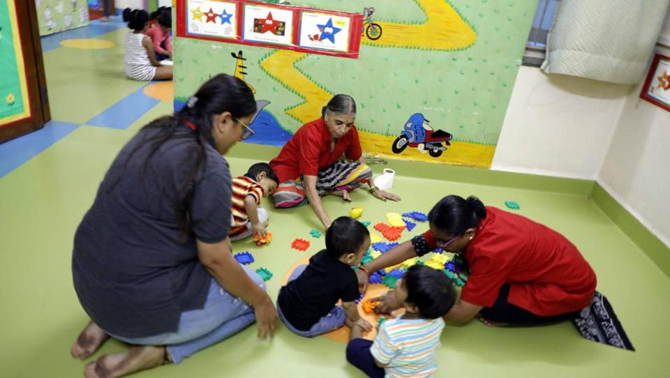 Children at a day care centre in the city. The centres themselves are keen on the government formulating a policy.