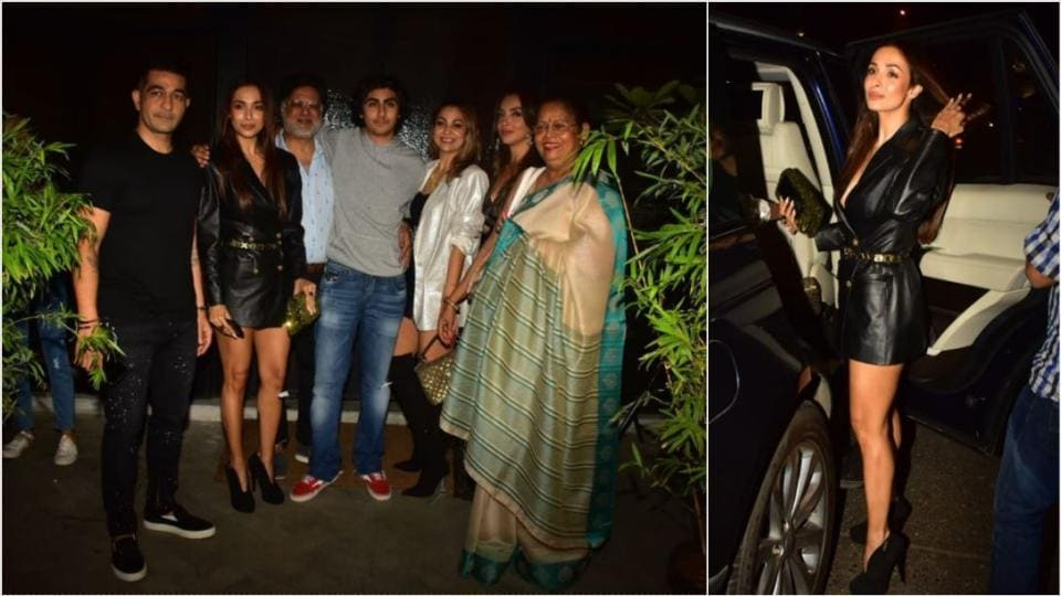 Malaika Arora and her son Arhaan with the red of their family.
