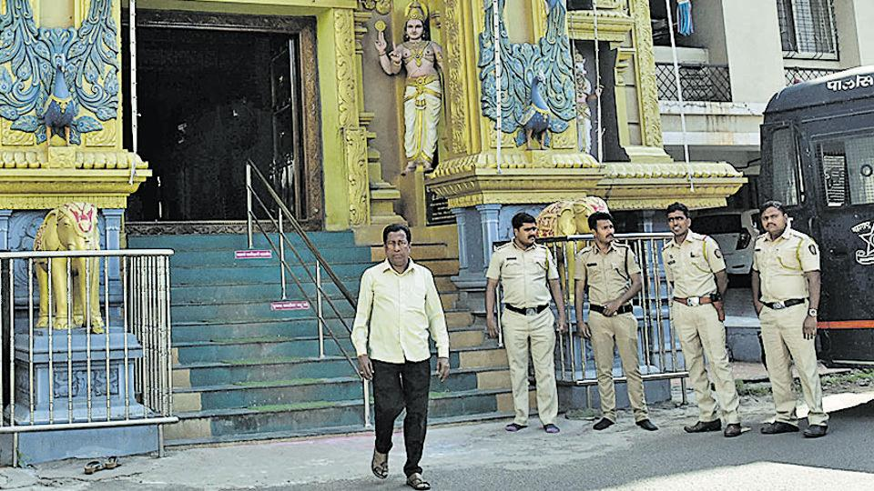 Police security in the city was tightened against the back drop      of the Ayodhya verdict on Saturday.