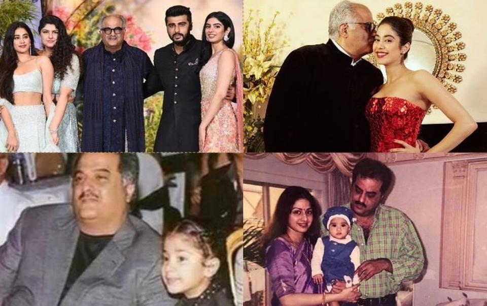 Check out Boney Kapoor's 10 best pics with the whole family.