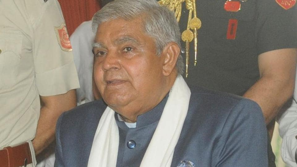 West Bengal Governor Jagdeep Dhankhar.