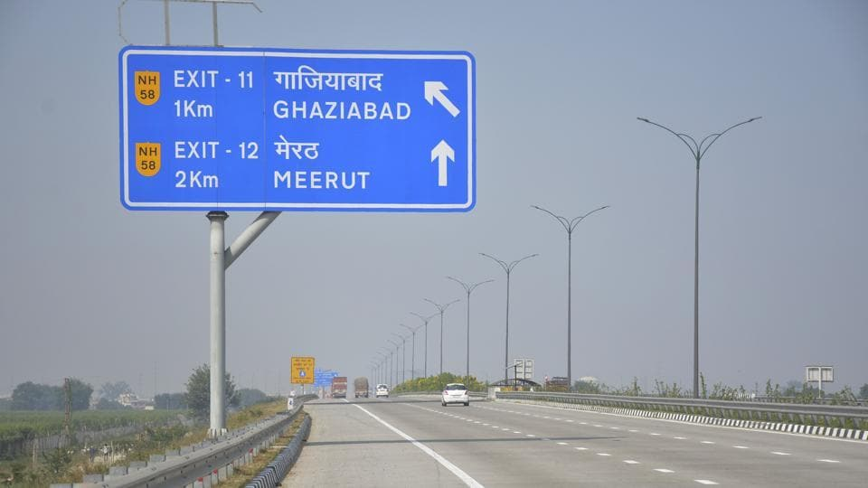 A view of traffic at Eastern Peripheral Expressway, in Ghaziabad.  Five people were killed in a road accident on the e-way in Greater Noida on the night of November 10, 2019.