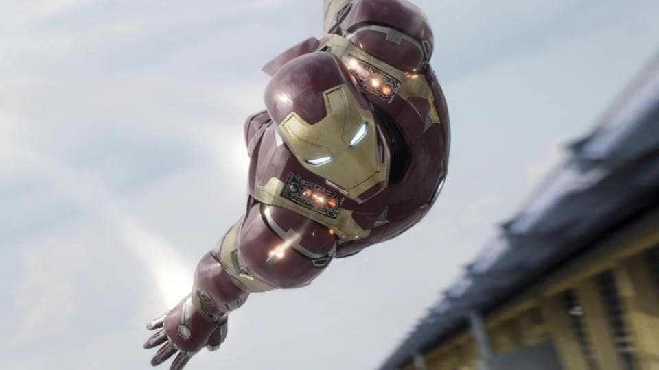 In this image released by Disney, Iron Man, portrayed by Robert Downey Jr., appears in a scene from Captain America: Civil War.