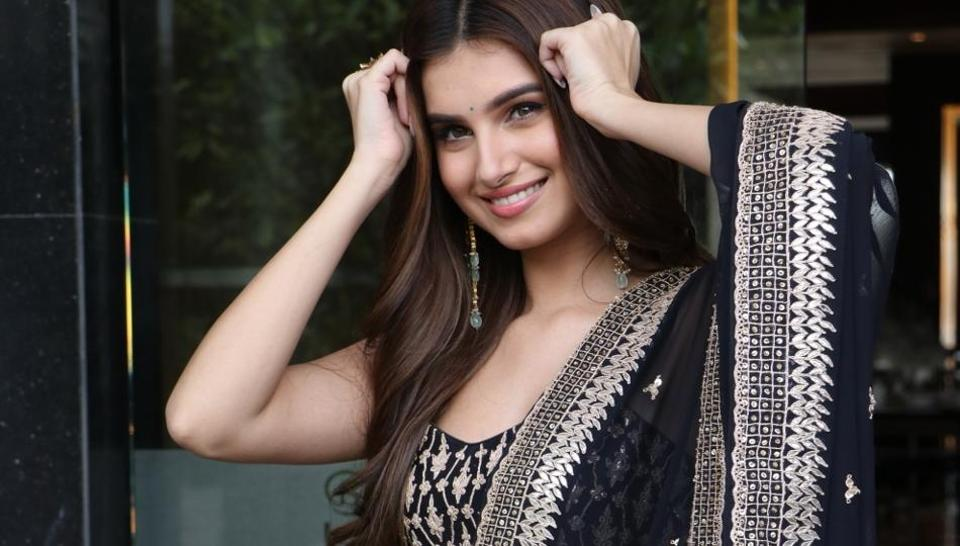 Tara Sutaria during the promotions of her upcoming film Marjaavaan in Mumbai.