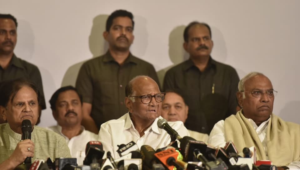 NCP president Sharad Pawar, at a joint press conference with Congress leaders deputed by Sonia Gandhi to hold talks with him, said the two parties will discuss and evolve a consensus on what should be the policies and programmes if the Shiv Sena was to be supported.