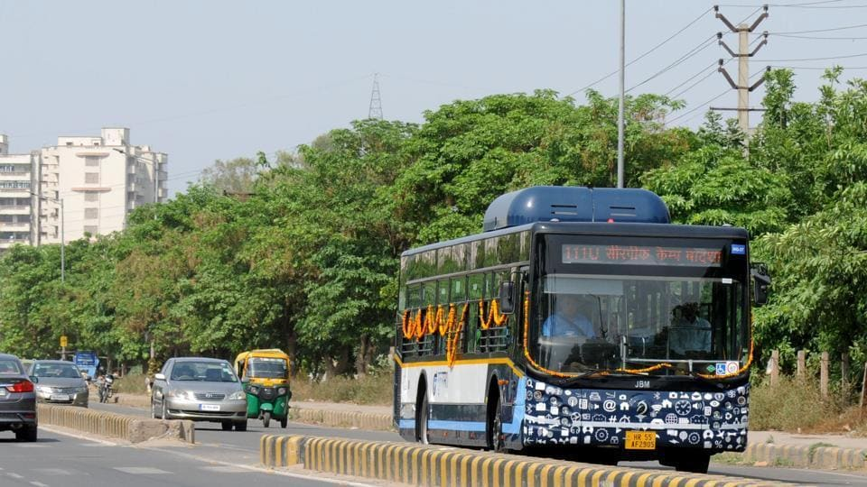 The current route from Huda Metro station to the railway station has been chosen as several girls schools and colleges are located along the route