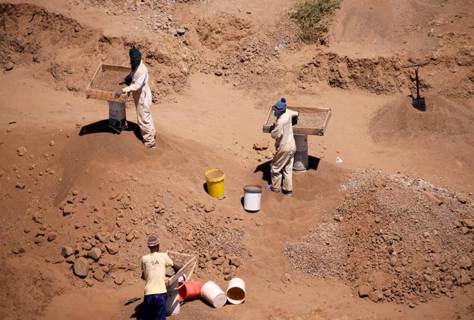 Illegal diamond miners known locally as