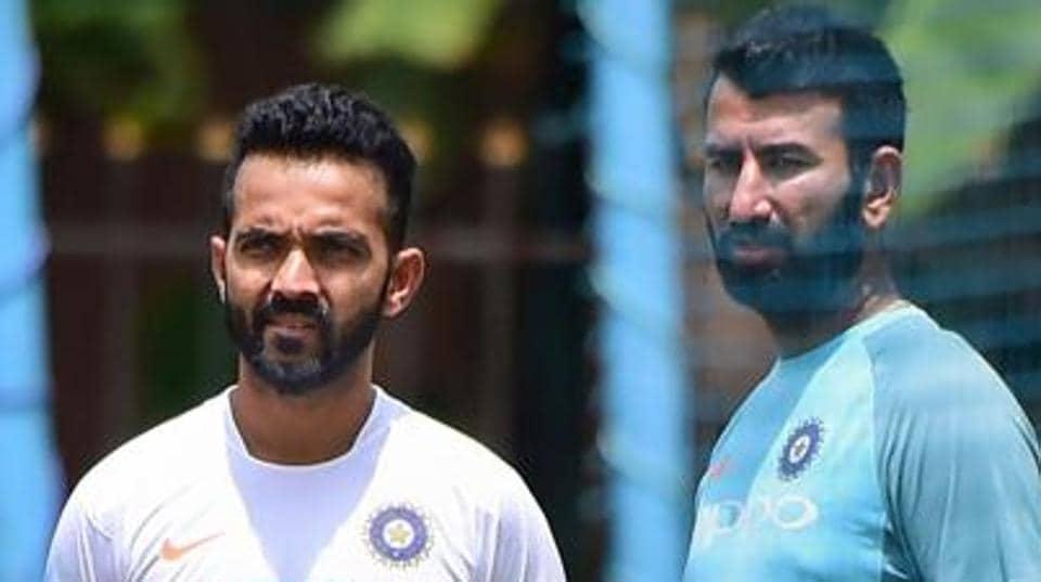 File image of India cricketers Ajinkya Rahane and Cheteshwar Pujara.