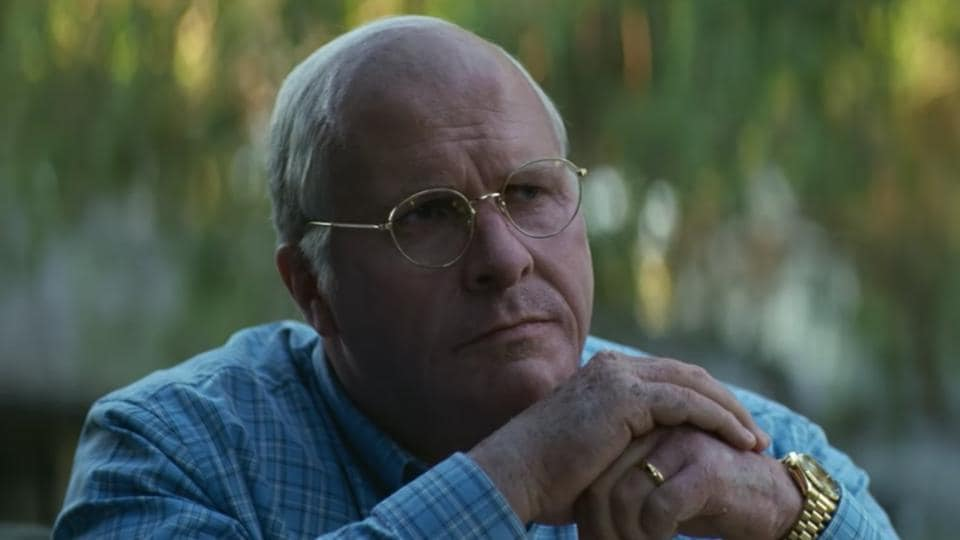 Christian Bale as Dick Cheney in a still from Vice.